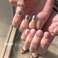 #ハンド #ニュアンス #マーブル #ミラー #ピンク #イエロー #ブラウン #Jouir for beauty - hair nail eyelash- #ネイルブック