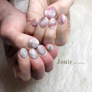 #ハンド #シンプル #ニュアンス #マーブル #Jouir for beauty - hair nail eyelash- #ネイルブック