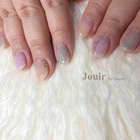 #ハンド #シンプル #ワンカラー #シェル #ニュアンス #ワイヤー #パステル #スモーキー #カラフル #Jouir for beauty - hair nail eyelash- #ネイルブック