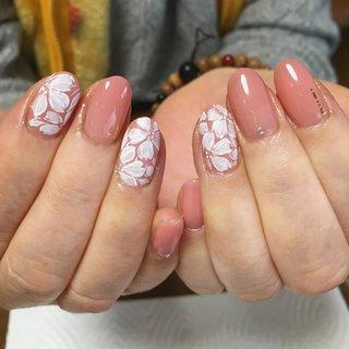 #ピンクネイル #フラワーネイル #マット #かわいい #田川ネイル #田川ネイルサロン #筑豊ネイルサロン #Fumi Takahashi #ネイルブック