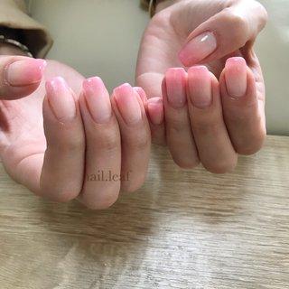 #オールシーズン #オフィス #デート #女子会 #グラデーション #ピンク #お客様 #nail.leaf【リーフ】 #ネイルブック