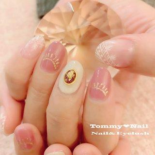#オールシーズン #卒業式 #入学式 #オフィス #ハンド #ワンカラー #ネイティブ #ボヘミアン #エスニック #ニュアンス #ジェル #お客様 #BeautySpa Tommy♡nail (トミーネイル) #ネイルブック