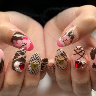 . 今年初バレンタインネイル🍫💓 念願のバレンタインネイル可愛すぎます🥰 またお待ちしてまーす🐰💕 . . . キャラクター3Dなどのご相談 いつでもご連絡ください🧸💓 . 💅GOODNAILS_JURI 📱LINE ID @woe6578d . ☎️03-6427-4474 . #goodnails #shibuya #nails #nail #nailsalon #gelnail #footnail #sculpture #nailart #nailstagram #insta nail #new nail #nailist #2020ネイル #フットネイル #おまかせネイル #スカルプチュア #手描きネイル #渋谷 #渋谷サロン #渋谷ネイルサロン #バレンタインネイル #バレンタイン #ハンド #ロング #お客様 #JURI #ネイルブック