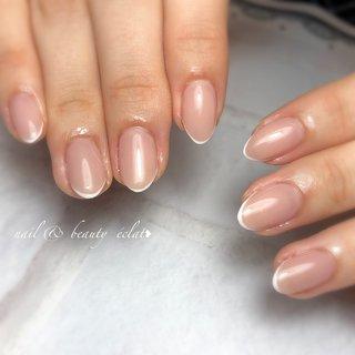 #スキニーフレンチ#フレンチネイル #nail & beauty éclat❥ #ネイルブック