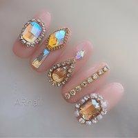 #ピンク #キラキラ#キラキラネイル #ビジューネイル #ビジュー  Instagram→aki_.nail #nail_aki #ネイルブック