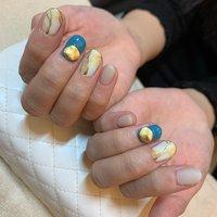 #マットコート #大理石 #COHA nail and art #ネイルブック