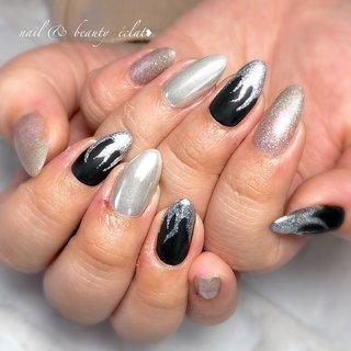 #ファイヤーネイル#ブラックネイル#マットネイル #nail & beauty éclat❥ #ネイルブック