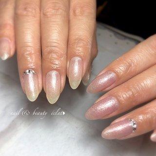 #ワンカラーネイル#ラメネイル#シンプルネイル #nail & beauty éclat❥ #ネイルブック
