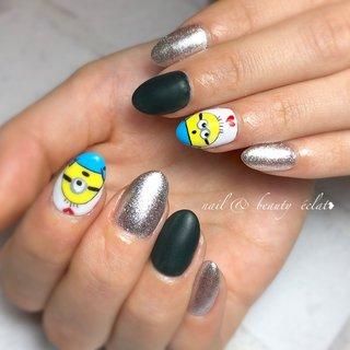 #スカルプ#ミニオンネイル#キャラクター #nail & beauty éclat❥ #ネイルブック