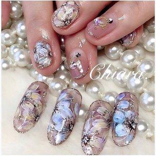 *    #flowernails 💍♡  (スライド5枚目にMovie有📹💋♥︎)    → → → →   サンプルチップと比べると、 半分くらいのとーっても 可愛いお爪のお客様ですが 💅 お爪に合わせて描くので 充分華やか✨ です ♡     楽しい時間をいつも ありがとう ♪ ☺︎💋♥︎         #nails#nailart#japannail#fashion#gelnails#beauty#beautiful#flower#nailbook#bluenails#naildesign#shortnails#美甲#美爪#フラワーネイル#お花ネイル#手描きアート#手描きネイル#シースルーネイル#シアーネイル#キラキラネイル#グラデーションネイル#大人ネイル#お花#ネイルブック#ネイルデザイン#ネイル#chiaranails          Instagram → yochan4.nail #春 #夏 #秋 #オールシーズン #フラワー #シースルー #ショート #イエロー #ブルー #パープル #YokoShikata♡キアラ #ネイルブック