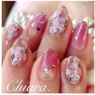 *    #flowernails 💍♡ (スライド3枚目にMovie有📹💋♥︎)     #pink & #flower ご希望の 完全お任せdesign💍♡     いつも ありがとう ♪☺︎💋♥︎          Instagram → yochan4.nail #春 #夏 #秋 #オールシーズン #グラデーション #フラワー #ピンク #YokoShikata♡キアラ #ネイルブック