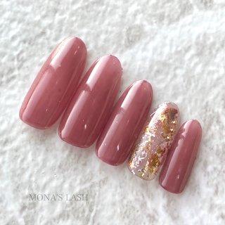 #ニュアンスネイル #ニュアンス #ピンク #赤#レッド #くすみネイル #くすみカラー #MONA'SLASH #ネイルブック