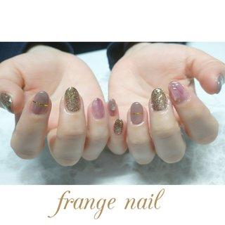 #ハンド #ニュアンス #レッド #ブラウン #ジェル #お客様 #frange nail #ネイルブック