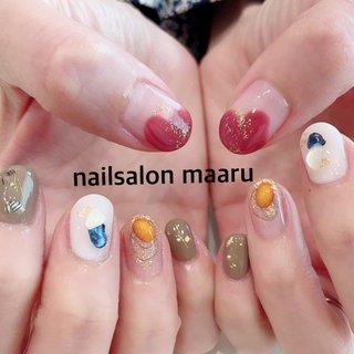 #オールシーズン #ハンド #ニュアンス #nailsalonmaaru #ネイルブック