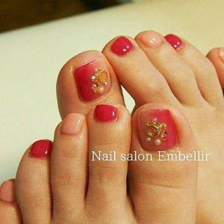#フットネイル #春ネイル #nailsalonembellir #高松ネイルサロン #Nail salon Embellir #ネイルブック