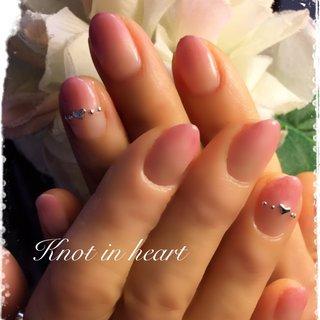 #グラデーション #春 #ハンド #knot in heart #ネイルブック