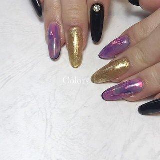 ▫︎◻︎marble◻︎▫︎ ご持参画像より 赤紫と青紫のmarbleがとても綺麗です 偏光フィルムも挟んでなおキラキラに  #アラジン #エキゾチック #nail#naildesign#nailart#nailist#お洒落ネイル#個性派ネイル#fashion#大阪ネイルサロン#牧野ネイル#くずは#枚方市ネイル#枚方ネイル#フィルイン一層残し#美爪#美甲#自宅サロン#ママコーデ#ママネイル#大人ネイル#シンプルネイル#オフィスネイル#大人かわいい#人気ネイル#ネイルアート #オールシーズン #ライブ #女子会 #ワンカラー #タイダイ #ニュアンス #パープル #ブラック #ゴールド #ジェル #お客様 #tomoko #ネイルブック