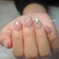 #シンプル #ピンク #くすみカラー  #くすみピンク #nailroomLARME #ネイルブック