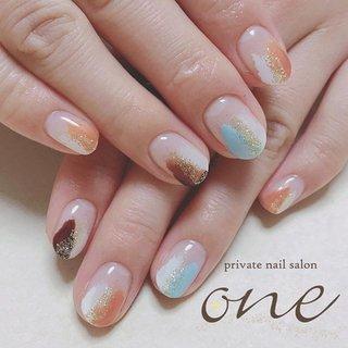 #塗りかけネイル#三色ネイル#privatenailsalonone#上田市ネイルサロンone#最新ネイル#プライベートネイルサロン#dorux_gel_nail#nails#nailart#naildesign#gelnail#美爪#指甲#藝術#japan #private nail salon one #ネイルブック