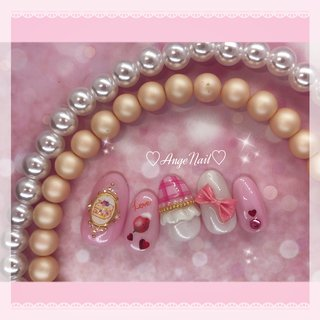 #ピンクネイル#かわいいネイル#ガーリーネイル #春 #ハンド #チェック #ハート #フルーツ #ピンク #AngeNail #ネイルブック