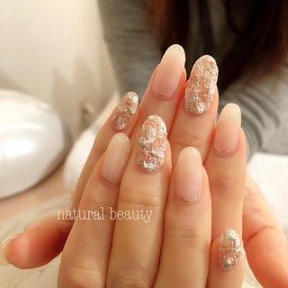 #ツイードネイル #春 #秋 #冬 #ハンド #ツイード #ミディアム #ピンク #グリーン #パステル #naturalbeauty #ネイルブック