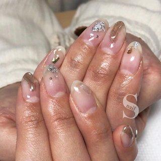 ˙ hand nail𓂃 𓈒𓏸 ˙ ˙ #シンプルネイル #自宅ネイル #ママネイリスト #ワンカラーネイル #大人ネイル #ハンド #ハンドネイル  #nail #gelnail #네일아트 #네일 #美甲 #クリアネイル #ぽこぽこネイル #ミラー #シェル #天然石 #s.kitano #ネイルブック