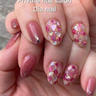 #春 #卒業式 #入学式 #オフィス #ハンド #グラデーション #シェル #Private nail salon Dia nail #ネイルブック