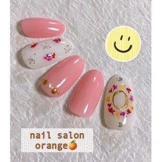 #春 #卒業式 #入学式 #ハンド #シンプル #フラワー #ピンク #nail&foot care salon orange🍊 #ネイルブック