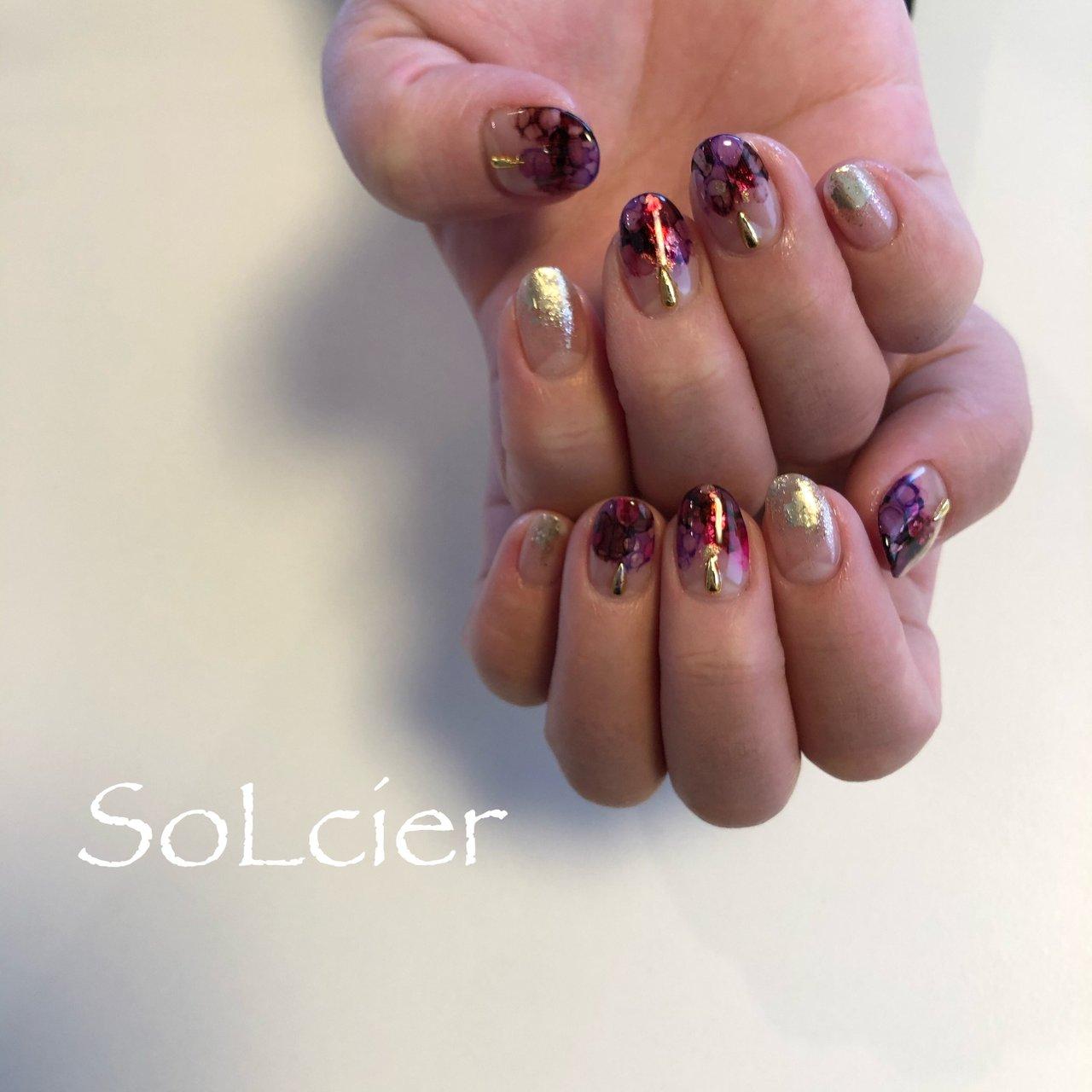 #ブリーディングインク #ハンド #【SoLcier】ソルシエ #ネイルブック