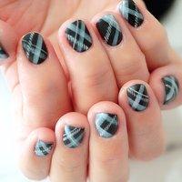 #チェックネイル#ショートネイル #ange nail salon #ネイルブック