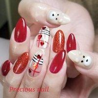 #冬 #バレンタイン #ハンド #ラメ #ワンカラー #チェック #ベージュ #レッド #precious_nail315 #ネイルブック