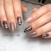 #くすみカラー#シースルーフラワー #ワンカラーネイル #nail & beauty éclat❥ #ネイルブック
