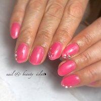 #ピンクネイル#クリアピンクネイル #ワンカラーネイル #nail & beauty éclat❥ #ネイルブック