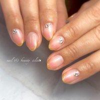 #グラデーションネイル#ピンクネイル#オフィスネイル#シンプルネイル#サーモンピンク #nail & beauty éclat❥ #ネイルブック