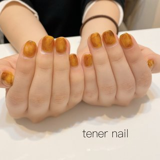 ブラウンとイエローでべっ甲のようなニュアンスネイル💅 #tenernail #テネルネイル #tener_nail #nail #nails #gelnail #ネイル #シンプルネイル #nailstagram #オフィスネイル #ネイルブック #美甲設計 #japan #東京 #新宿ネイルサロン#新宿 #ジェルネイル #네일#신주쿠 #ネイルデザイン#お子様連れok #ニュアンスネイル #ニュアンス #ニュアンスネイルデザイン #オールシーズン #旅行 #オフィス #デート #ハンド #シンプル #ニュアンス #べっ甲 #ショート #クリア #イエロー #ブラウン #ジェル #お客様 #テネルネイル tener nail #ネイルブック