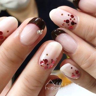 バレンタイン🖤 #可愛いね❤️#チョコレート #ビター&スイート #Affiner. with ...Hitomi #ネイルブック