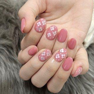 #春 #ピンク #puna_nail #ネイルブック