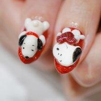 #3D#スヌーピーネイル #ange nail salon #ネイルブック
