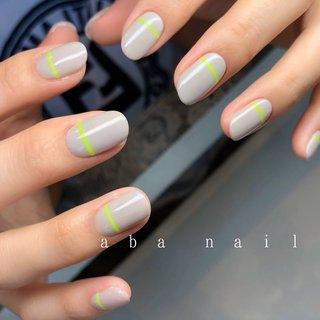 いつもありがとうござます¨̮♡⃛ . . .  #aiii_nail_aiii #ainail  #nails#nails#nailart#naildesing#gelnails#pic#photo#ニュアンスネイル#アシンメトリーネイル#シンプルネイル#ワンカラーネイル#個性派ネイル#手描き#ネイル #ネイルデザイン#美爪#젤레일#美甲師#おしゃれ#名古屋#名古屋ネイルサロン#矢場町ネイルサロン#オシャレネイル#beige#アシンメトリーネイル#アート#ミラー #オールシーズン #卒業式 #入学式 #旅行 #ハンド #シンプル #ワンカラー #ショート #グレー #ネオンカラー #ジェル #お客様 #aiii_nail_aiii #ネイルブック