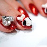 #スヌーピーネイル #ange nail salon #ネイルブック