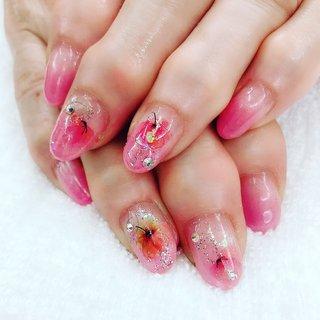 #フラワー #春#ピンク #田園バーバー #ネイルブック