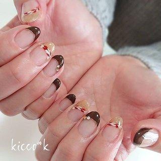 美味しそう~(*´˘`*)♡ ホワイトチョコと カラメルソースみたい✨  #スイーツネイル  #バレンタインネイル  #ホワイトデーネイル  #斜めフレンチ  #nail #nails #nailsalon #instanails #nailswag #nailstagram #nailart #naildesign #gelnails #manicurist #ネイル #ネイルデザイン #大人ネイル #ジェルネイル #ネイルサロン #八潮市 #八潮ネイル #八潮ネイルサロン #北千住ネイルサロン #足立区ネイルサロン #三郷ネイル #草加ネイル #自宅サロン #kicco_k #バレンタイン #デート #ハンド #変形フレンチ #ハート #ショート #ホワイト #ブラウン #ゴールド #ジェル #お客様 #kicco_k.nail #ネイルブック