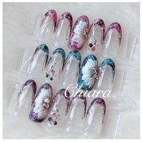 *   サンプルチップより 💍♡ #flowernails      Instagram → yochan4.nail #YokoShikata♡キアラ #ネイルブック