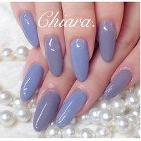 *   #purplenails 💍♡  交互に ..♥︎  二種類のくすみパープルカラー。       Instagram → yochan4.nail #オールシーズン #ワンカラー #パープル #YokoShikata♡キアラ #ネイルブック