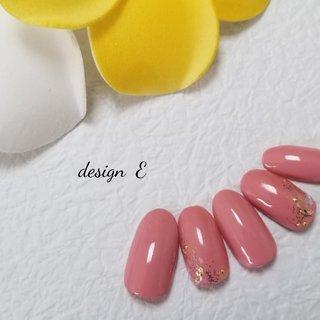 39キャンペーン #ピンク #シェルネイル #ワンカラー #春 #卒業式 #入学式 #ハンド #ミディアム #ベージュ #ピンク #BENNIE #ネイルブック
