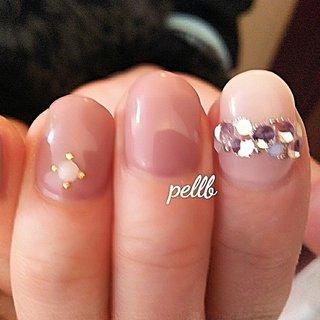 #シンプルネイル #春いろネイル  写真がぼけてしまいましたが…ピンク系の濃淡カラーです。 柔らかい雰囲気のネイルになりました #ハンド #ピンク #ジェル #ネイルサロンpellb #ネイルブック