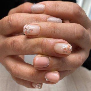 #春ネイル #シェルネイル #nail salon citrine #ネイルブック