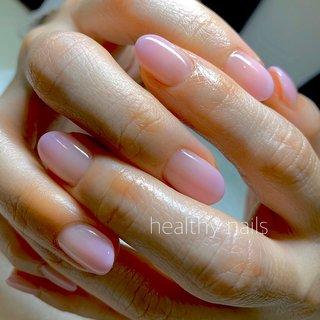 #オールシーズン #オフィス #シンプル #グラデーション #healthy nails #ネイルブック