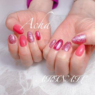 #ピンクネイル#春ネイル #Acha #ネイルブック