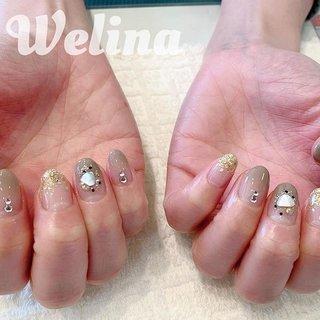 Chic&gorgeous✨  #nails #Welina #ネイルブック